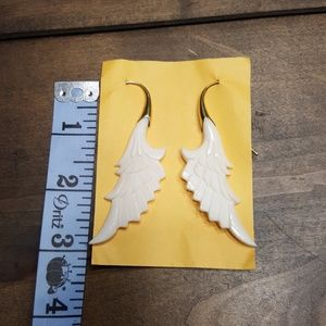 New Carved Wing Earrings Bali